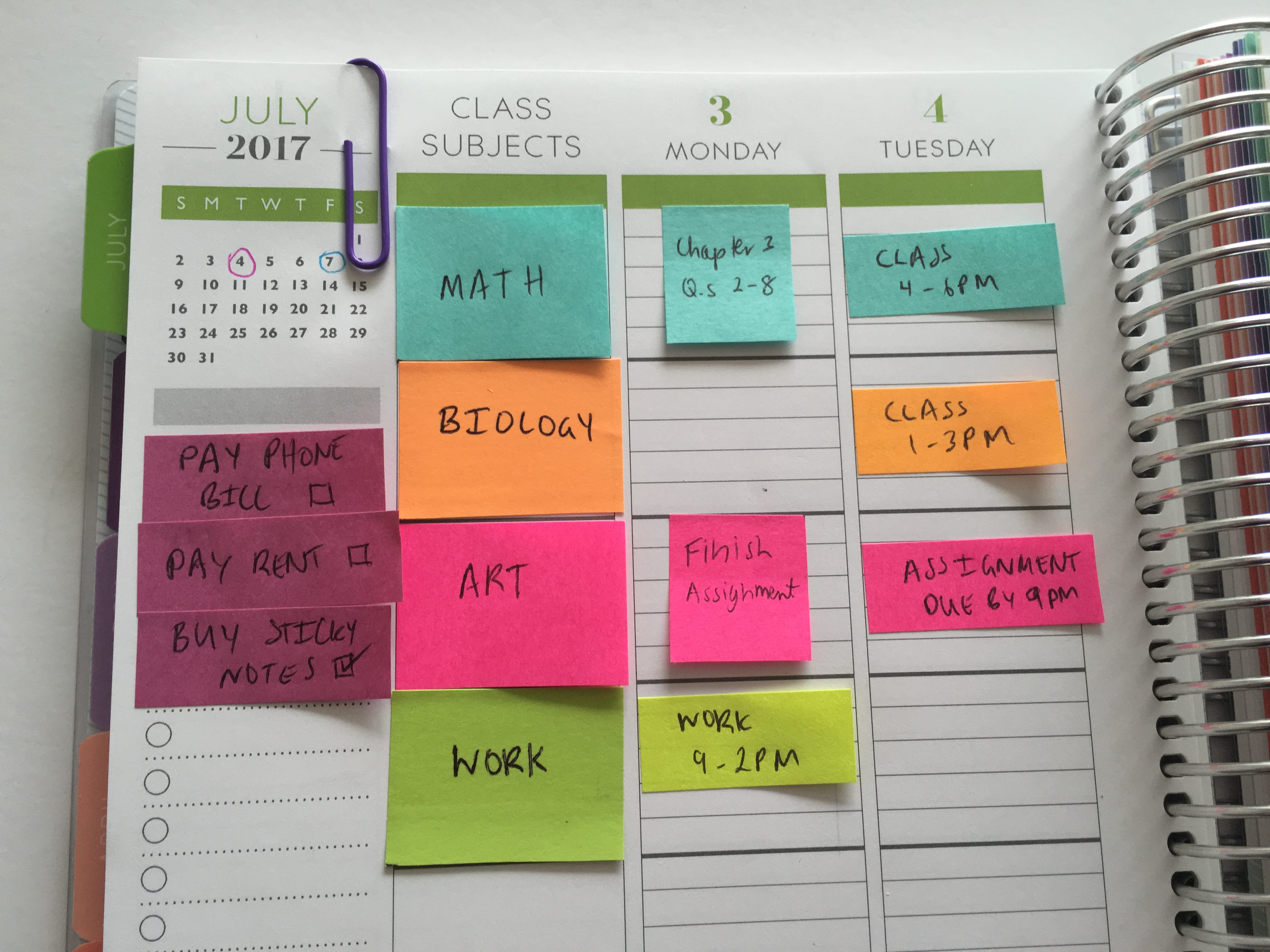 make sure youve subscribed as ill be sharing a post soon on how to color code your planner for school using sticky notes