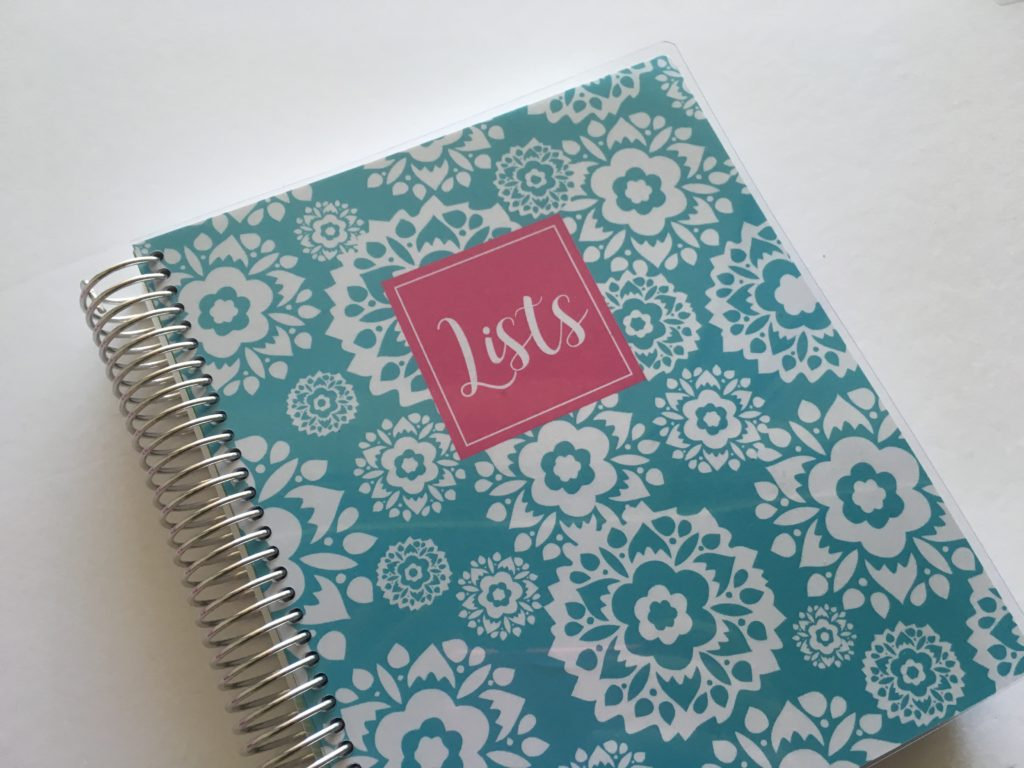 plum paper lists notebook