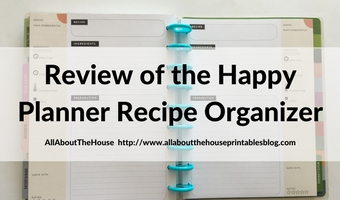 MAMBI Happy Planner Recipe Organizer Review