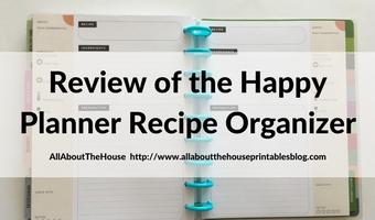 MAMBI Happy Planner Recipe Organizer Review