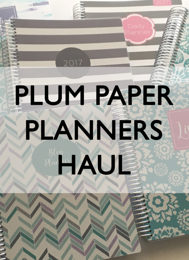 Plum Paper Planners Haul & Review (better than the Erin Condren?)