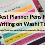 Best pens for writing on washi tape