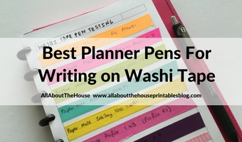 best planner pens for writing on washi tape planner supplies planner decorating 101 gel pen favorite black planner pen planning