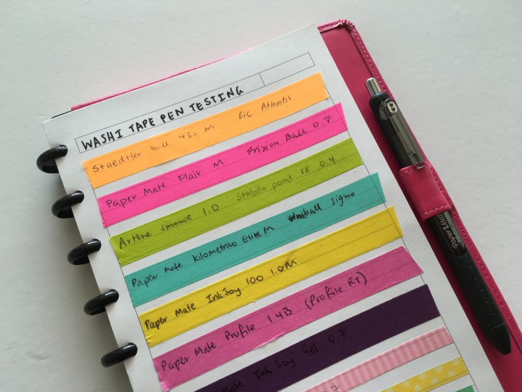 best planner pens for writing on washi tape review planner addict recommendation