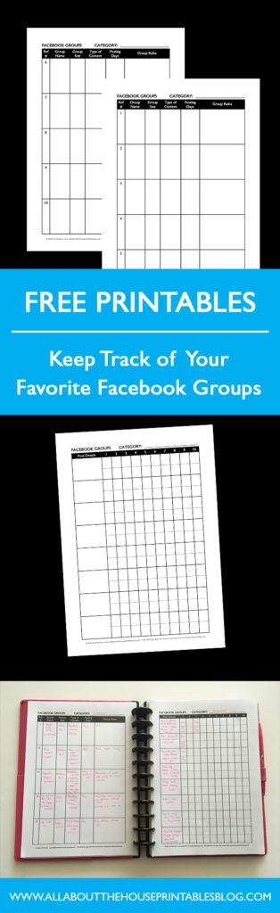 facebook group free planner printable tracker social media post tracker schedule blog planner business planner blogger blogger marketing