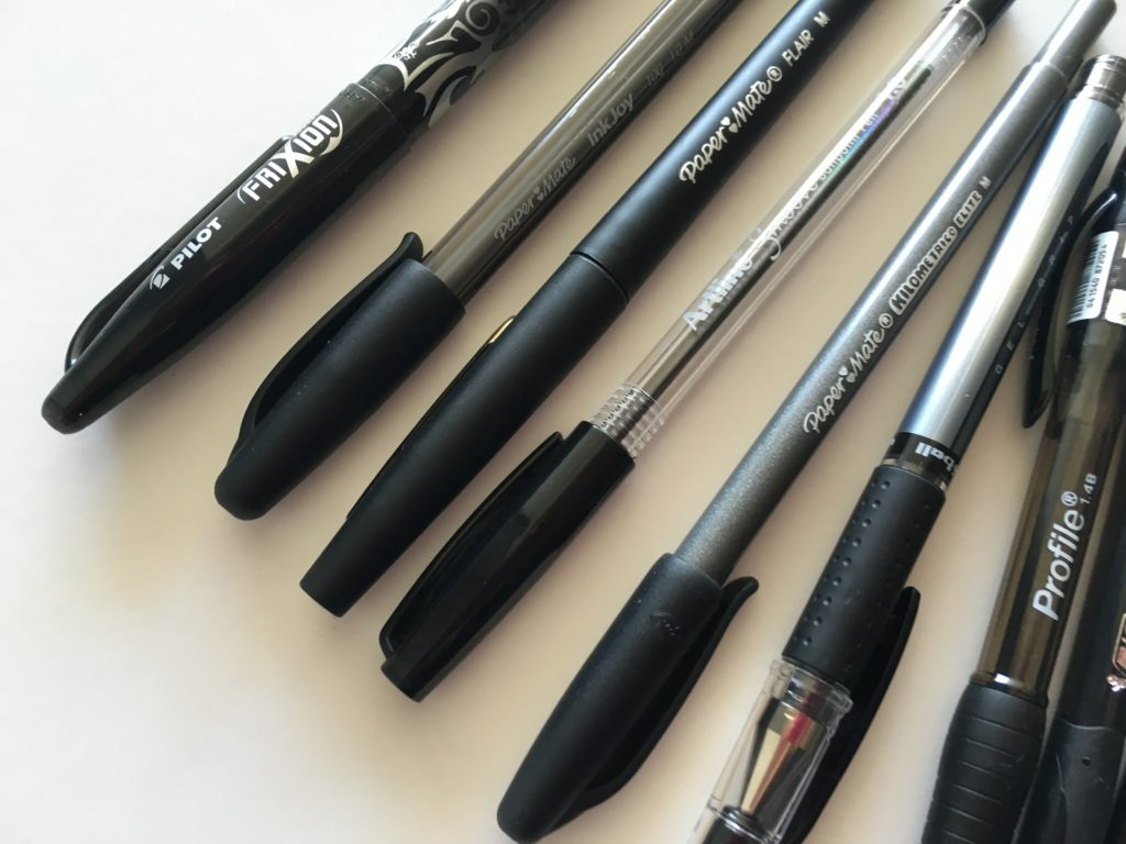 favorite black pens for planner addicts best pens for writing on washi tape papermate review erasable pens fine tip gel