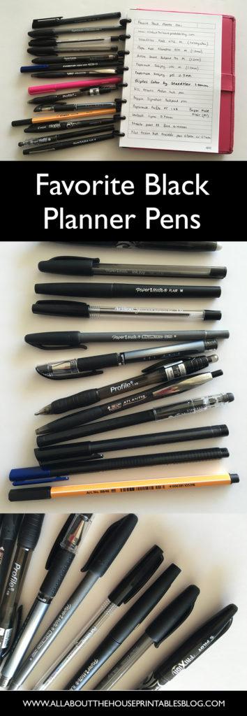 favorite black planner pens planner supplies newbie planner addict papermate review pilot frixion erasable best pen brand color coding