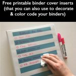 Planner Hack: Using binder covers to create a reusable checklist (plus free printable binder covers)