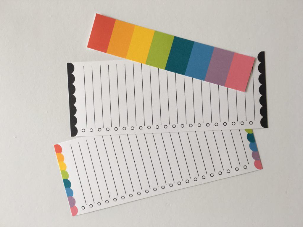 free printable checklist planner insert rainbow checklist accessory kikki k filofax bookmark page marker divider tabs