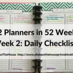 Planning with daily checklists (52 Planners in 52 Weeks – Week 2)