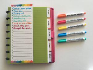 free printable planner insert list making dashboard dry erase planner accessories rainbow to do list checklist