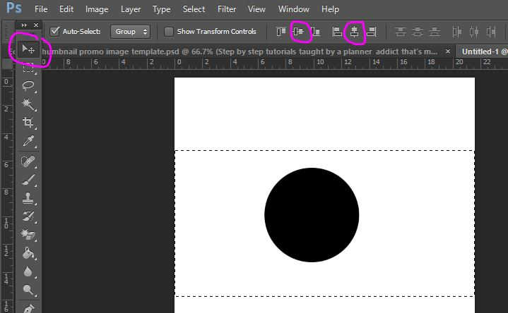 how to align to the centre of the canvas in photoshop tutorial graphic design align tool