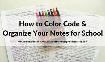 how to color code and organize your notes for school study class lecture organization exam finals prep assignment college