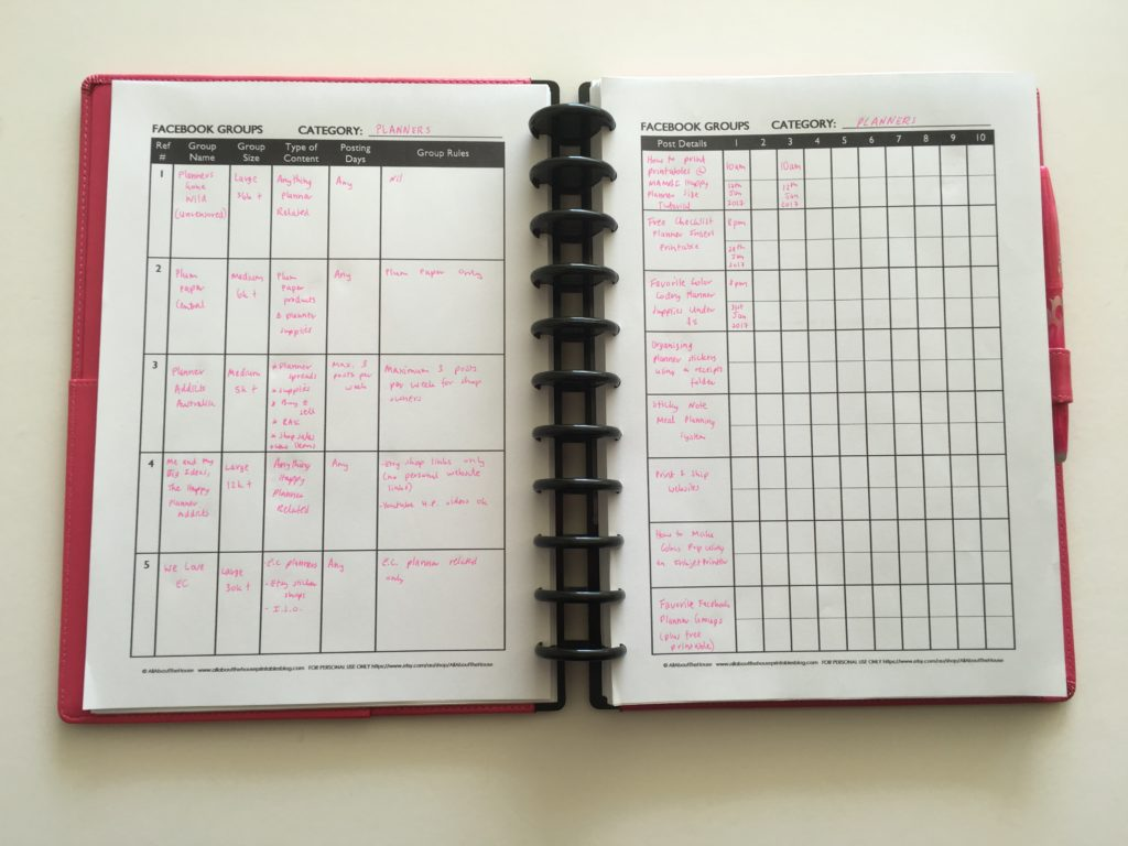 how to keep track of facebook groups social media marketing small business online posting schedule