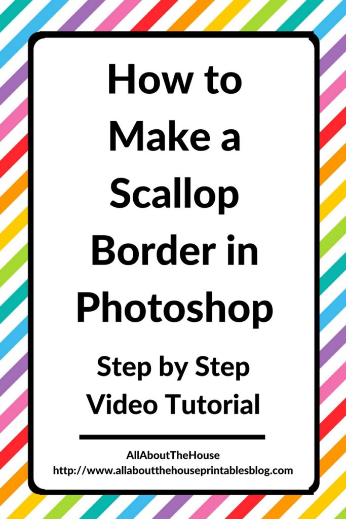how to make a scallop edge border in photoshop step by step video tutorial patterns ecourse free printable color coded planner