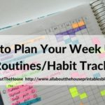 How to use a routine tracker to plan your week (52 Planners in 52 Weeks – Week 1)