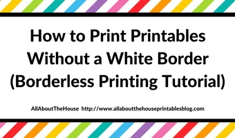 how to print printables no bleed no white margin how to resize a printable a5 kikki k printer troubleshooting diy planner hack