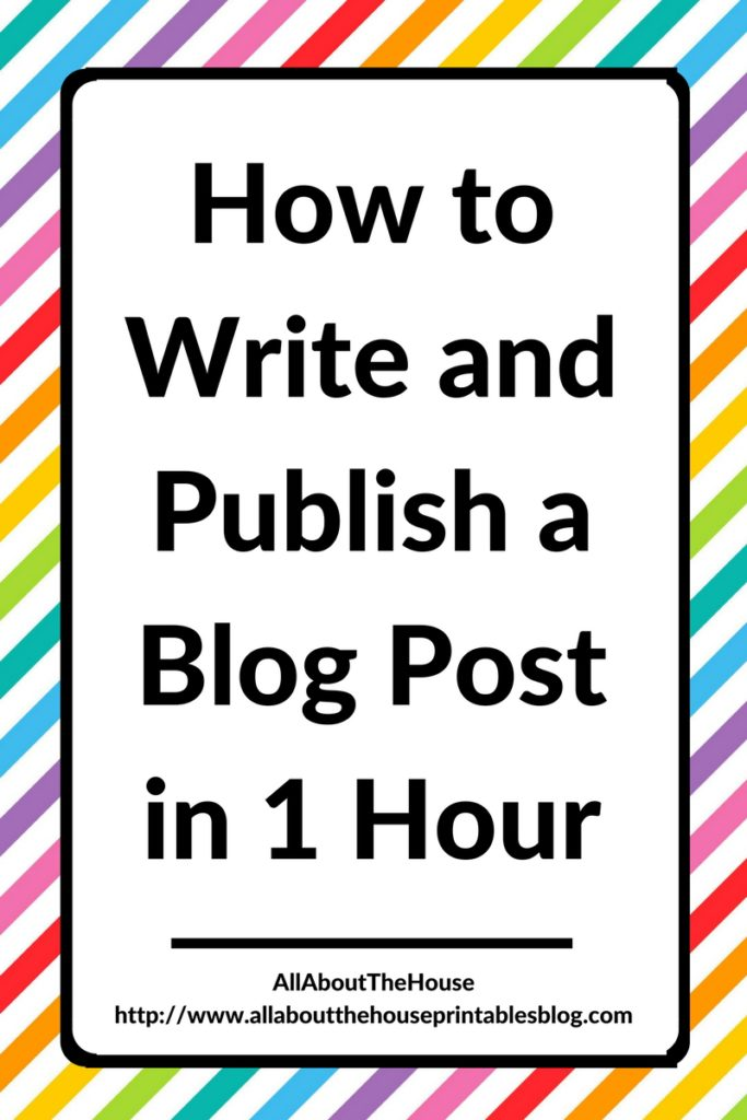 how to write and publish a blog post in 1 hour speed up blogging workflow process blog post seo optomised free printable list