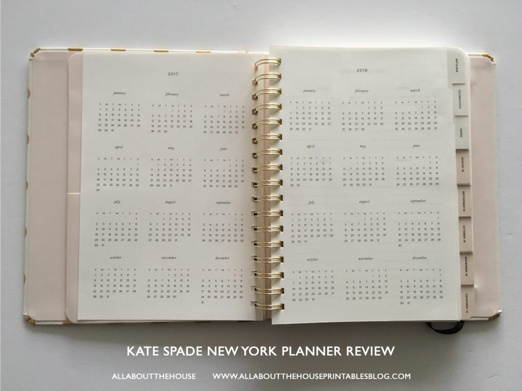 kate spade new york planner walthrough review large small planner spiral bound agenda daily planner weekly organizer-min