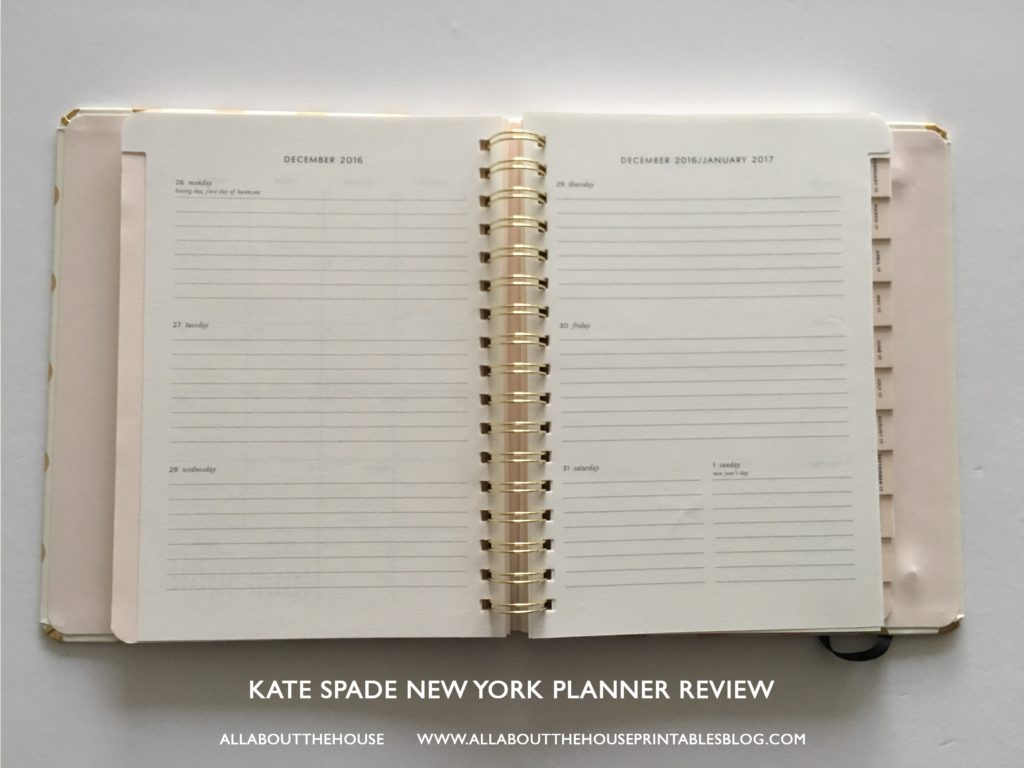 kate spade planner review best planner for 2017 agenda review a5 horizontal lines study school mom agenda organizer weekly-min