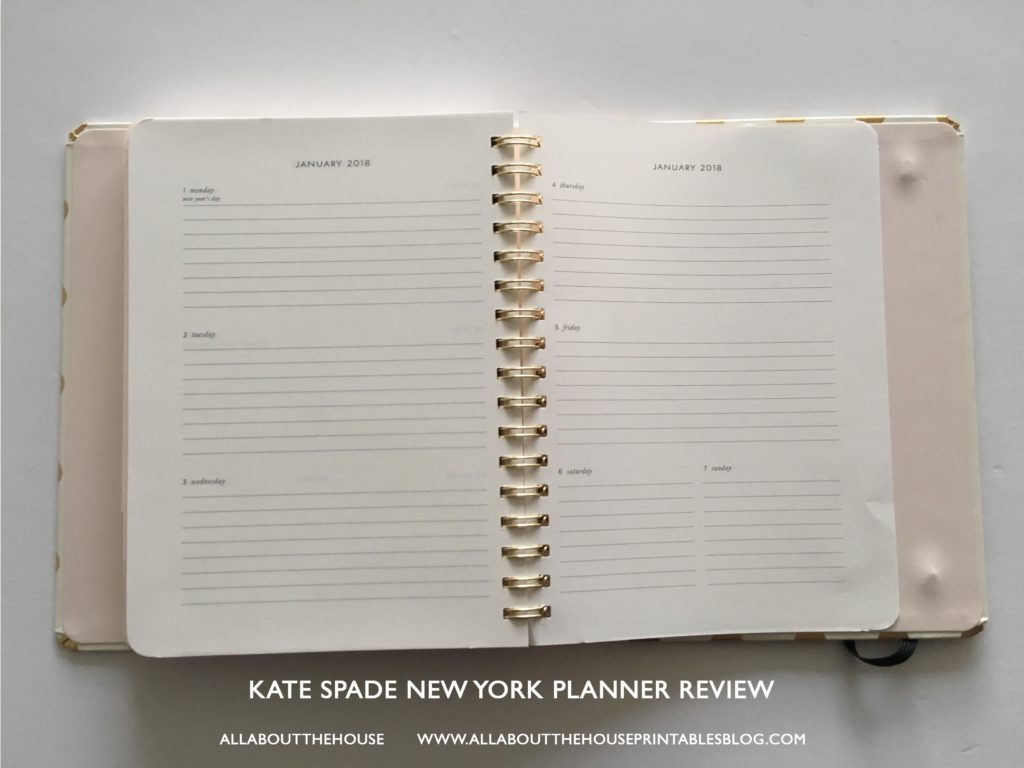 kate spade planner review best planner for 2017 agenda review a5 horizontal lines study school mom agenda organizer weekly organizer-min