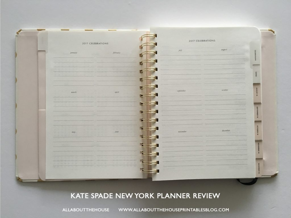 Kate Spade Calendar Planner : Kate spade planner review pros cons and a video flip