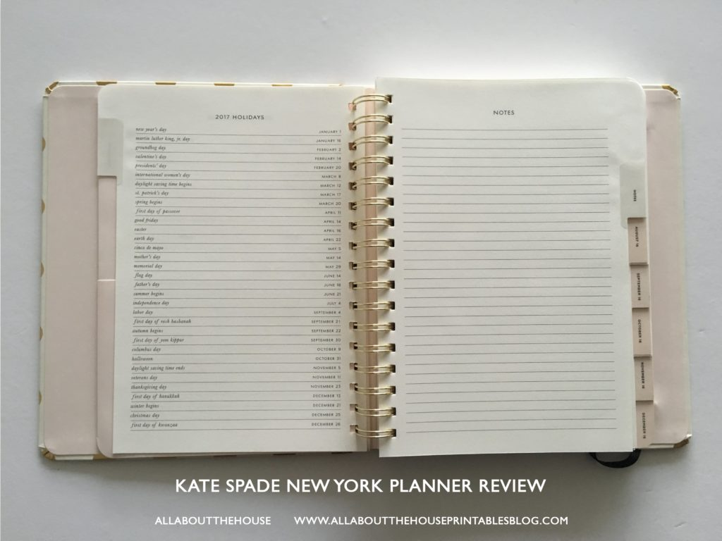 kate spade weekly planner review best planner for 2017 agenda review a5 horizontal lined college student school mom agenda organizer monthly calendar-min