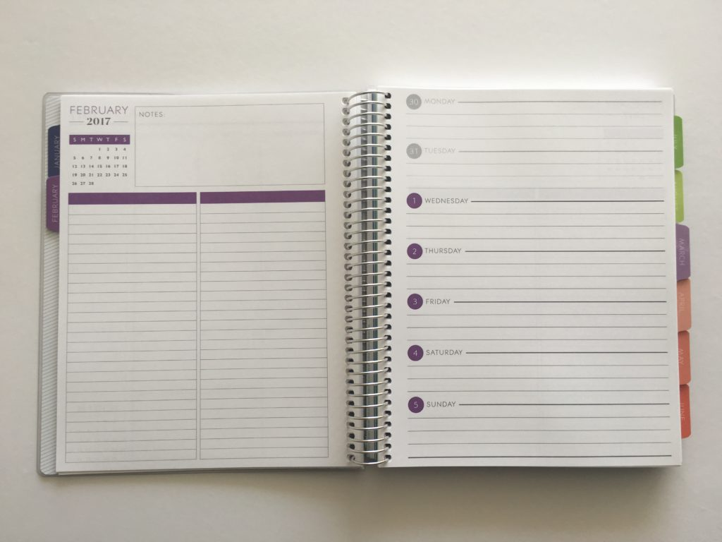 plum paper horizontal with notes planner review better than erin condren