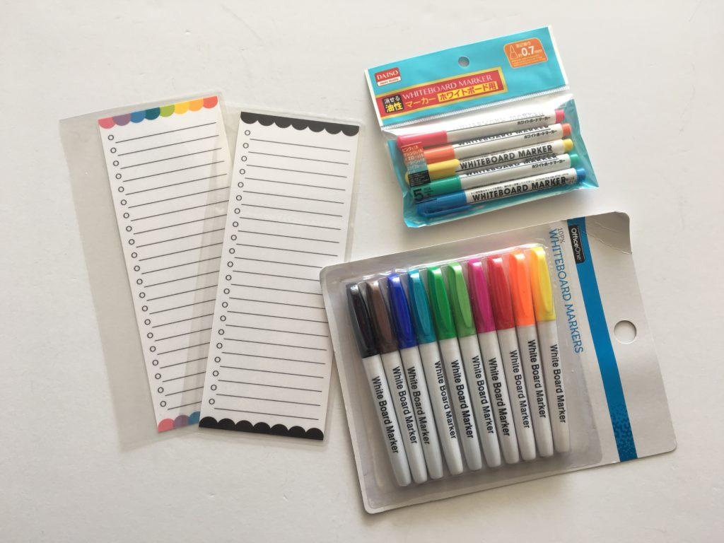 whiteboard diy list planner insert free printable