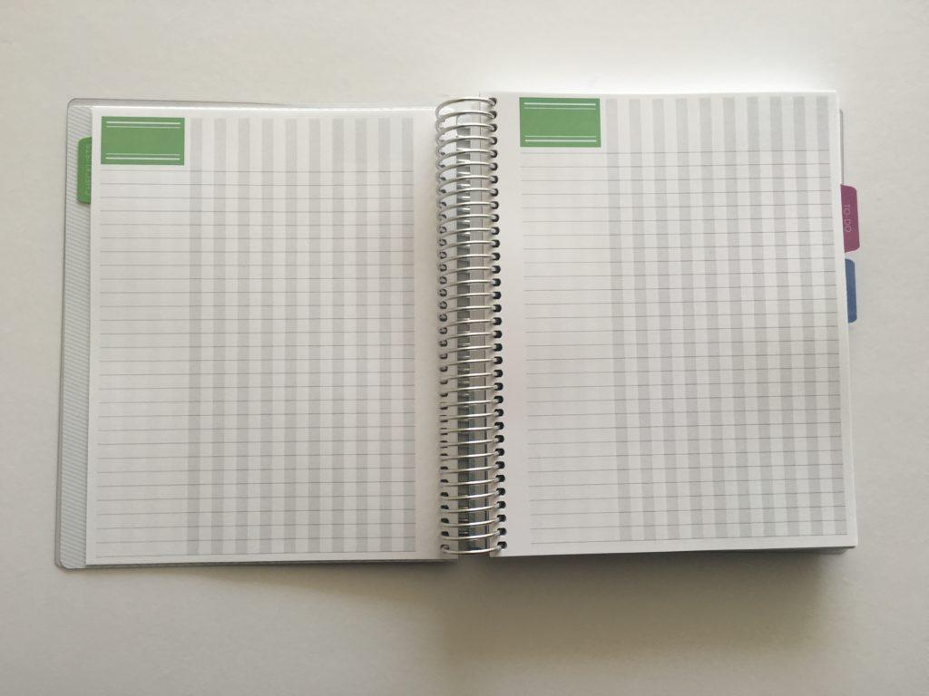 workflow planner pages blog post plannnig blogging notebook plum paper haul review cheaper alternative to erin condren