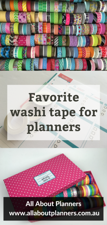 Favorite washi tape for planners functional decorative rainbow all about planners favorite planner supplies planner newbies rainbow color coding checklist