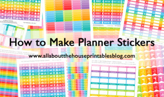 How to make planner stickers (ecourse with step by step tutorials, favorite resources, worksheets etc.!)