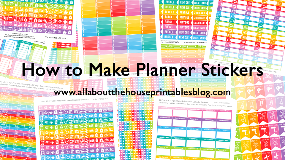 How to make planner stickers step by step tutorial create your own stickers diy planner hack cheap free printable download silhouette studio etsy graphic design
