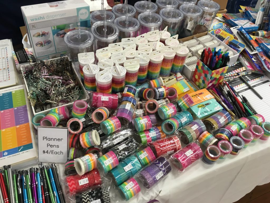 How to prepare and plan for a craft show planner market handmade business creative Brisbane planner markets 2017 table setup display stands-min