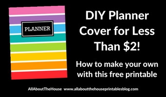 diy erin condren planner cover how to make your own planner cover binder cover free printable rainbow stripe hack tutorial cheap