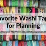 Favorite washi tape for planning, planner decorating & color coding