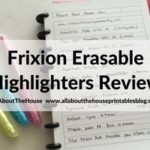Review of Frixion Erasable Highlighters by Pilot – are they worth the cost?