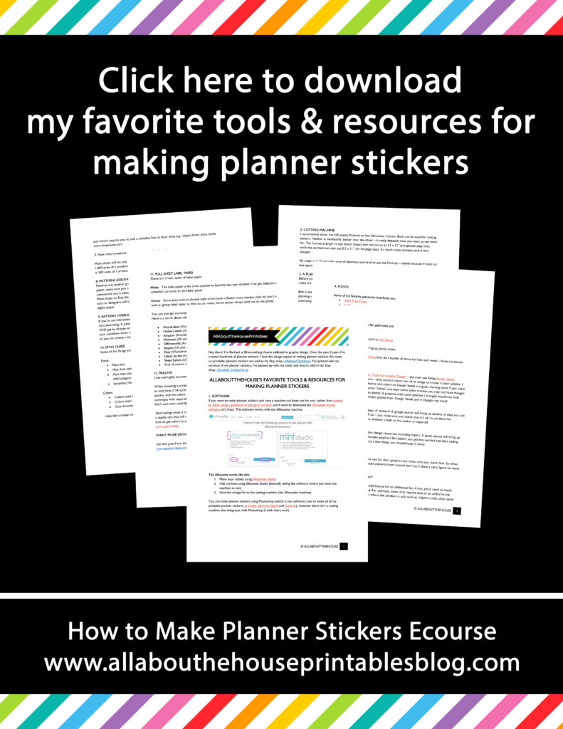 how to make planner stickers tools and resources guide free printable tutorial silhouette without photoshop erin condren plum paper mambi happy planner