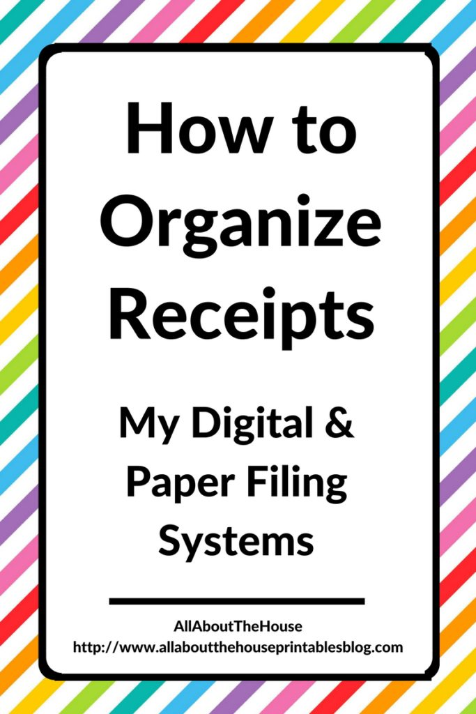 how to organize receipts digital paper system hard copy scan cloud storage backup blog business bill binder budget tax planner