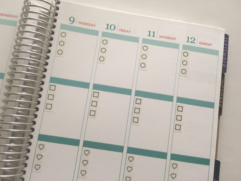 how to plan using washi tape planner decorating hack cheap erin condren hack eclp vertical life planner weekly spread