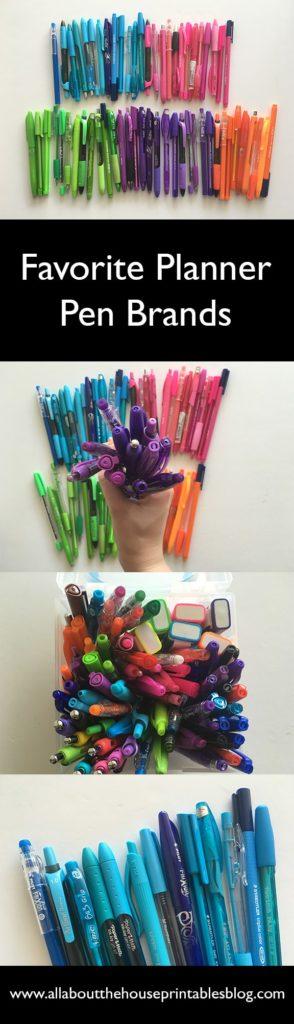 planner pen brands best pens for planners no bleed no smudge inkjoy paper gel erin condren plum paper inkwell press planning essentials color coding