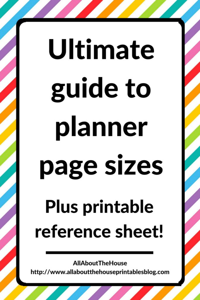 ultimate guide to planner page sizes inserts how to choose a planner what size planner personal a5 filofax kikki k a4 half size