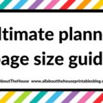 Ultimate planner page size guide (with printable reference cheat sheet)