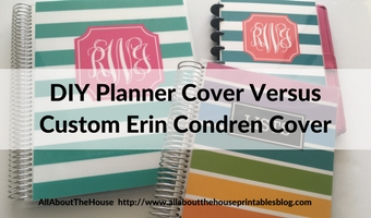 DIY planner cover versus erin condren custom cover review free printable personalised custom 7 x 9 daily weekly planner hack