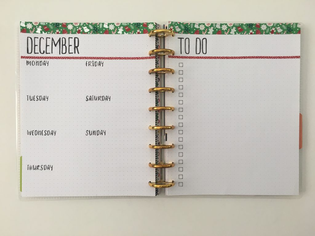 bullet journal weekly spread stencils quick easy christmas washi tape days of the week stencils pa paper accents