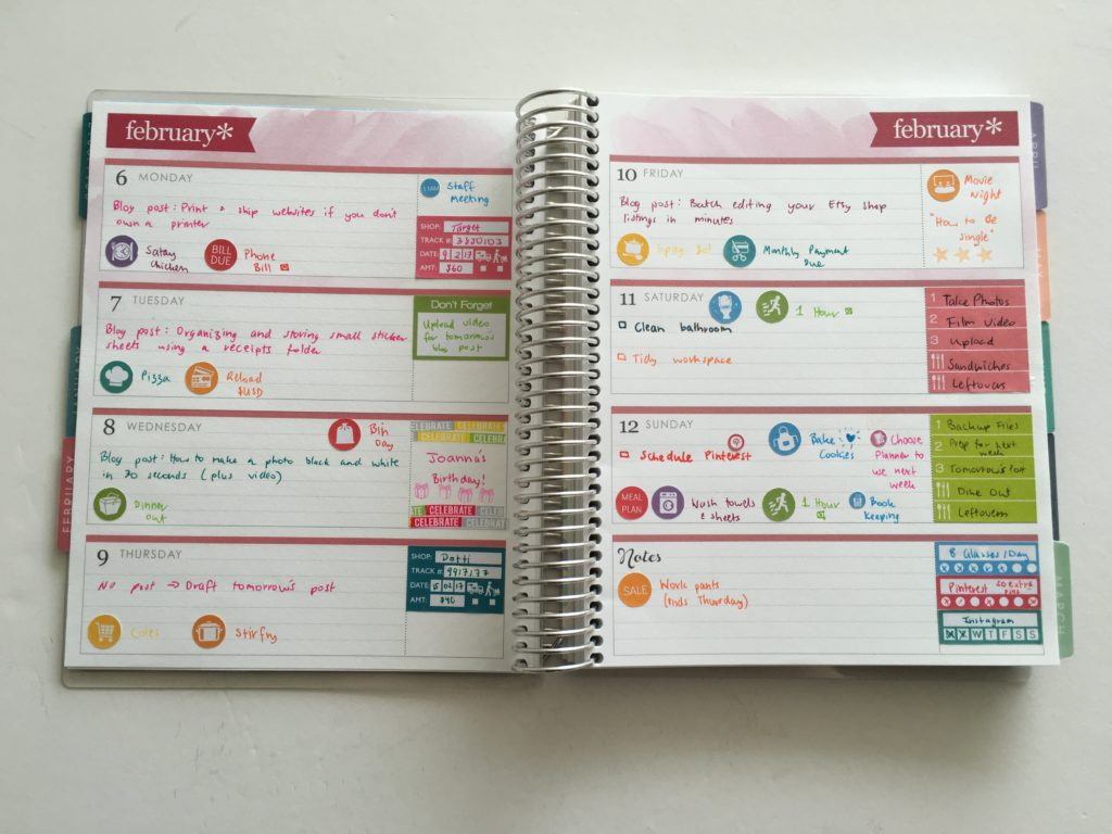 Planning Using The Horizontal Erin Condren Life Planner