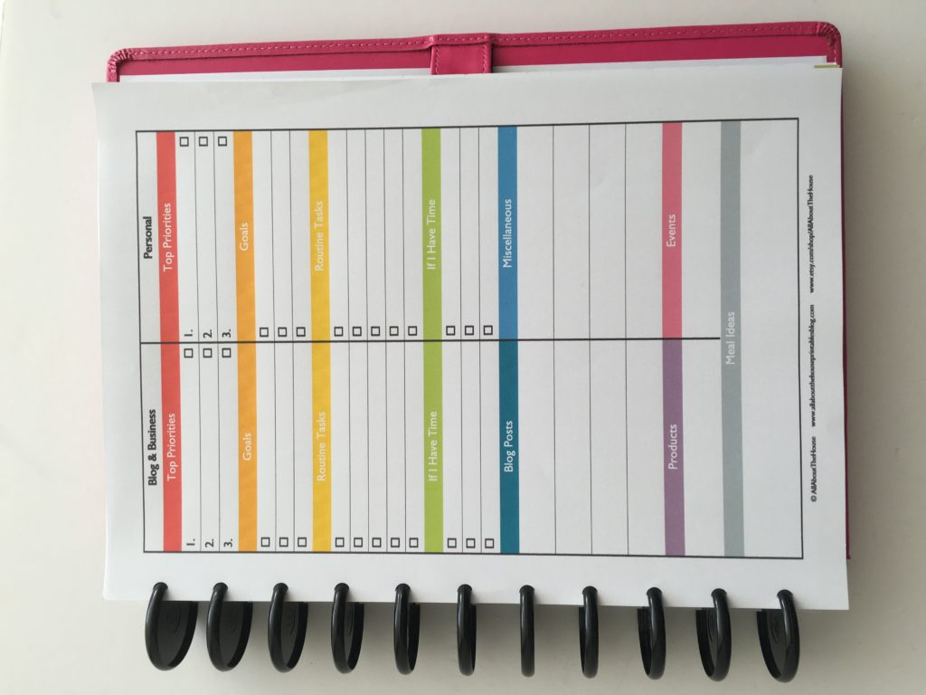 how to choose a planner 1 page weekly planner insert free printable diy planner challenge orgnization