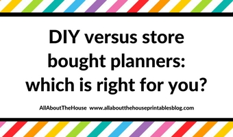 Buying a planner versus DIYing and making your own (pros and cons)