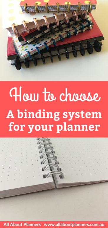 how to choose the right binding system for your planner daily weekly monthly discbound wire laminate coil sewn pros and cons newbie
