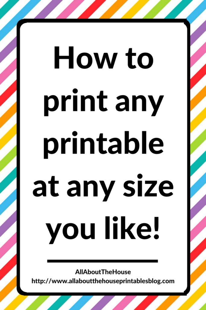 how to print any planner printable at any size you like, printing tips, page sizes, tutorial, template, kikki k, a5, filofax